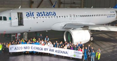 Air Astana провела первый C-check Airbus A320neo