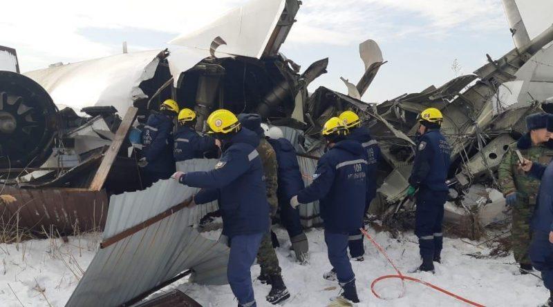 Видео момента падения самолета Bek Air