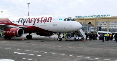 FlyArystan выполнила первый рейс из Нур-Султана в Туркестан
