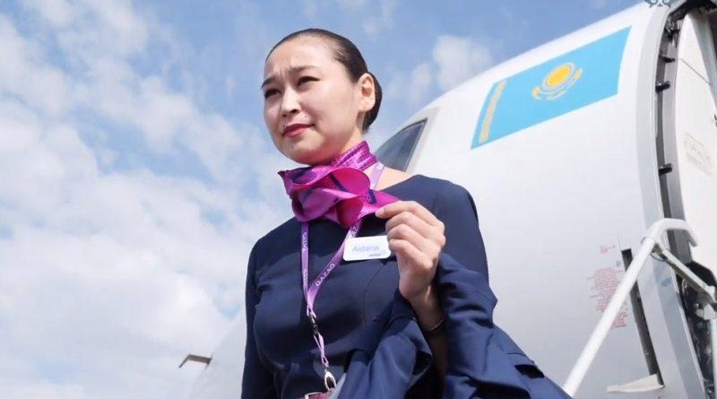 Стюардессы Qazaq Air