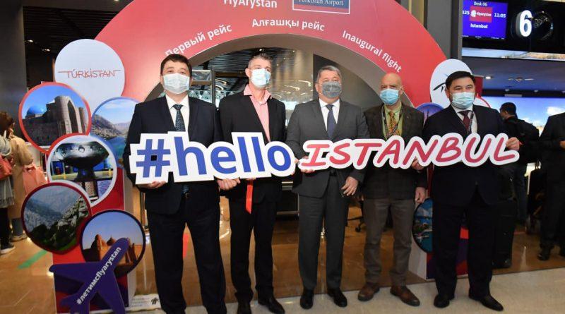Из Туркестана выполнен первый международный рейс