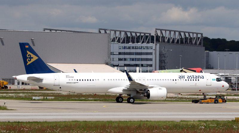Air Astanа получила пятый Airbus A321LR