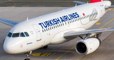 Turkish Airlines будет летать из Туркестана в Стамбул