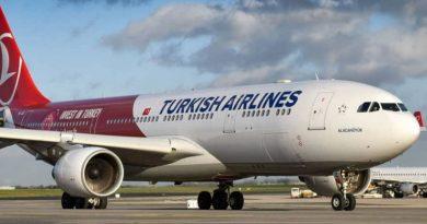 Turkish Airlines выполнила первый рейс Туркестан – Стамбул