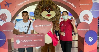 FlyArystan выполнила первый рейс Туркестан - Бишкек